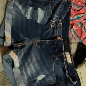 Frayed Aeropostale shorts